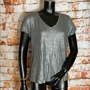 Eileen Fisher Silver Linen T-Shirt